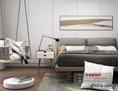 Modern Bedroom Interior Scene 20