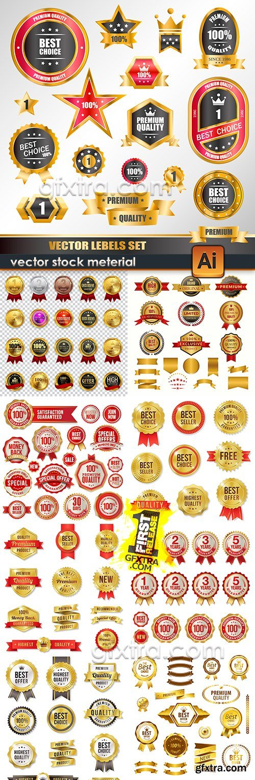 Vintage collection labels and premium badges 10