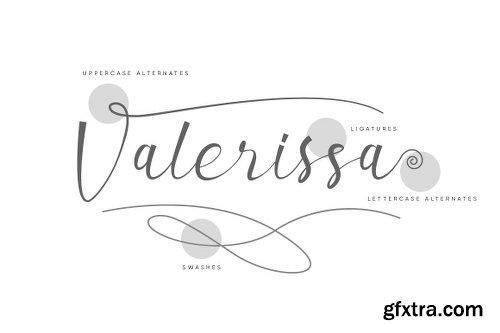 Valerissa Script Font
