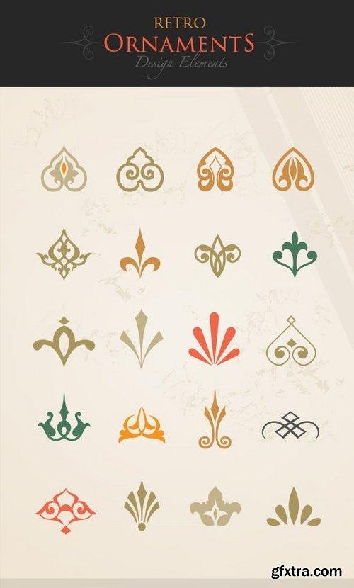 Retro Ornaments Design Elements