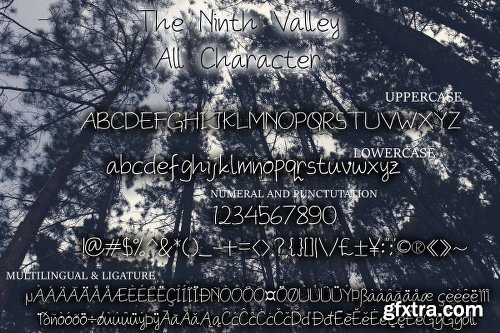 The Ninth Valley Font