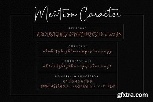 CreativeMarket Mention Signature and 251 Ligature 2611858
