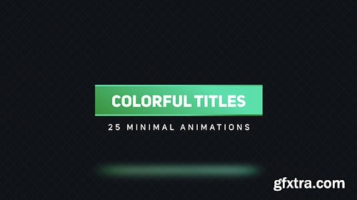 Videohive Colorful Titles 2 16618113