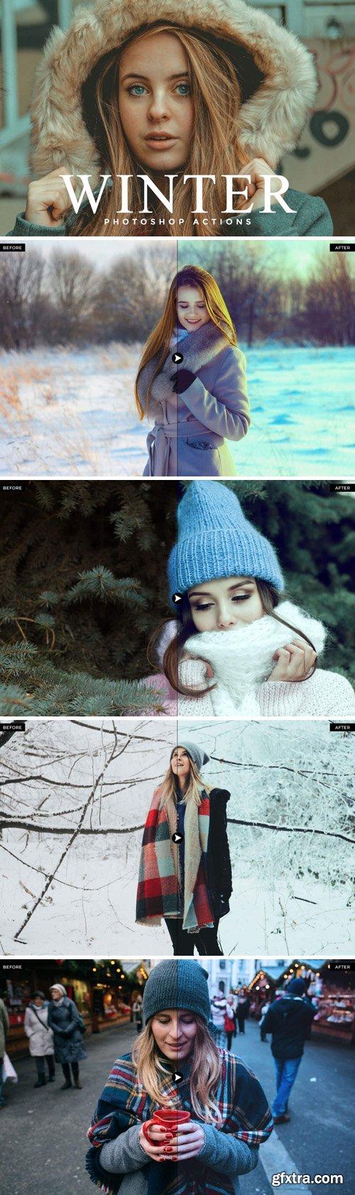 50 Winter Photoshop Actions Bundle
