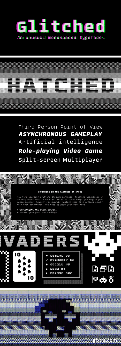 Glitched Font Family
