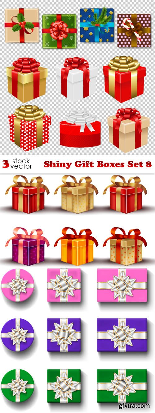 Vectors - Shiny Gift Boxes Set 8