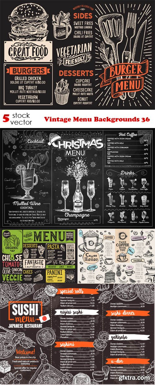 Vectors - Vintage Menu Backgrounds 36