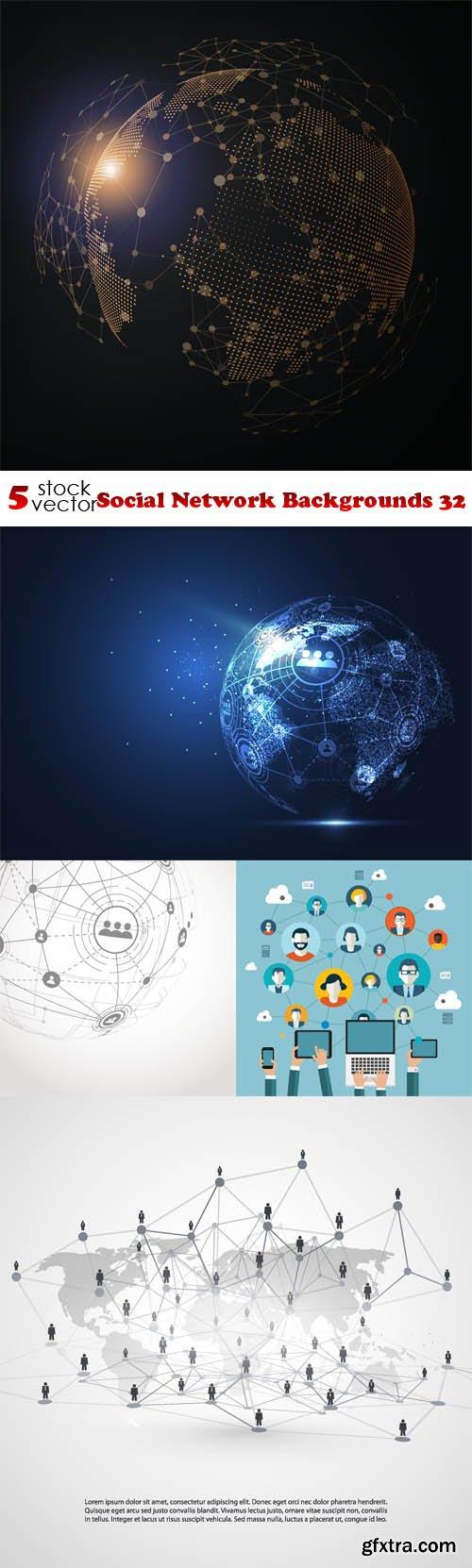 Vectors - Social Network Backgrounds 32