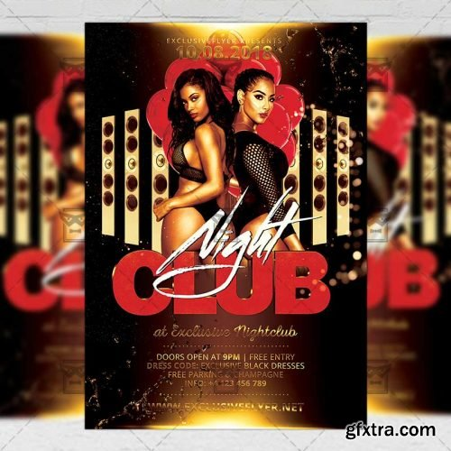 Club Night Flyer - Club A5 Template