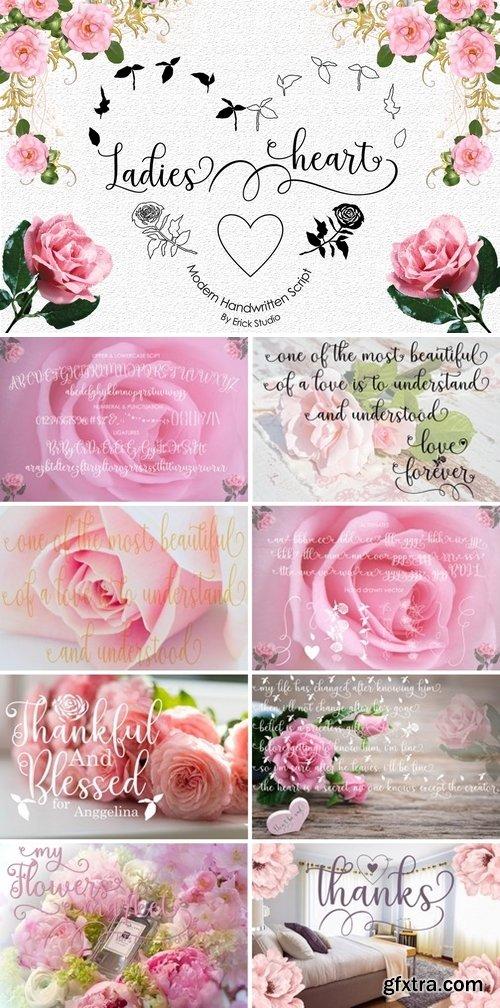 FontBundles - Ladies heart 162985