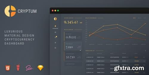 ThemeForest - Cryptum v1.0.1 - Luxurious Cryptocurrency Material Design Admin Dashboard - 22641753