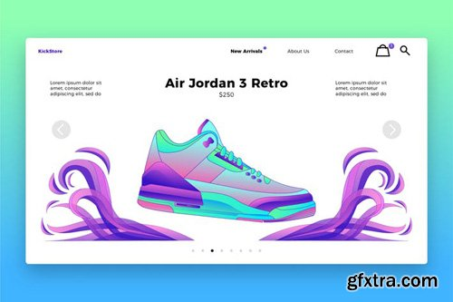 Fashion Shoes - Banner & Landing Page #2