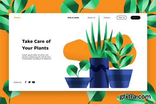Plants - Banner & Landing Page
