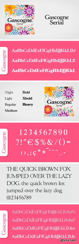 Gascogne Serial Font Family