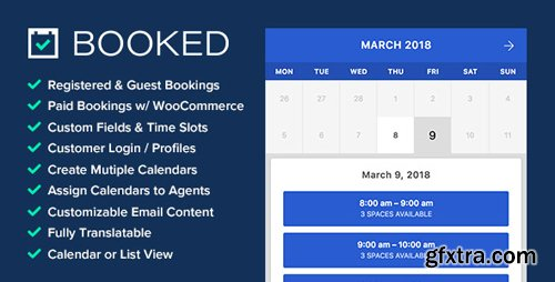 CodeCanyon - Booked v2.2.1 - Appointment Booking for WordPress - 9466968