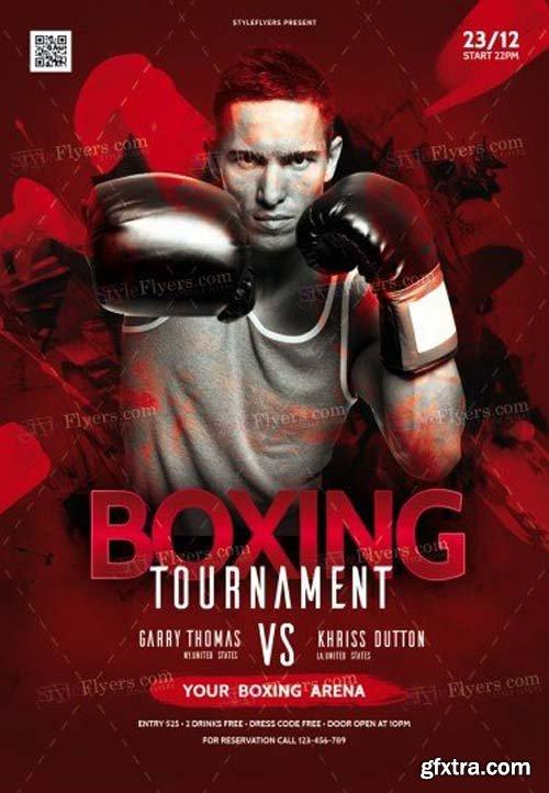 Box Tournament V14 2018 PSD Flyer