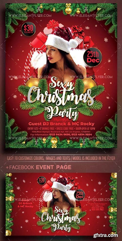 Sexy Christmas Party V20 2018 Flyer PSD Template