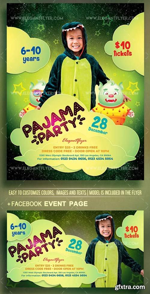 Pajama Party V1 2018 Flyer PSD Template