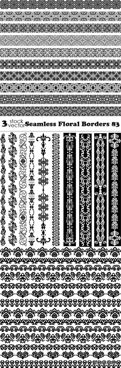 Vectors - Seamless Floral Borders 83