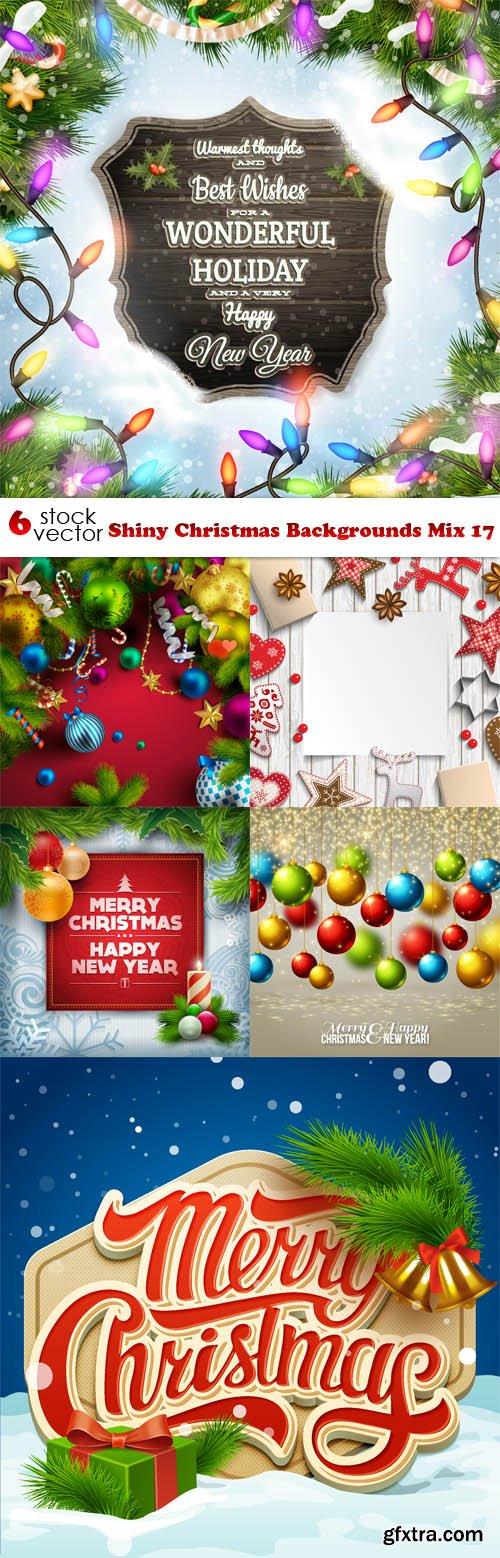 Vectors - Shiny Christmas Backgrounds Mix 17