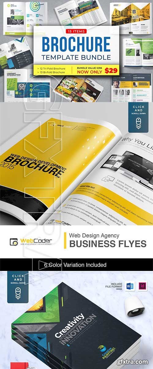 CreativeMarket - Brochure Bundle 3106787