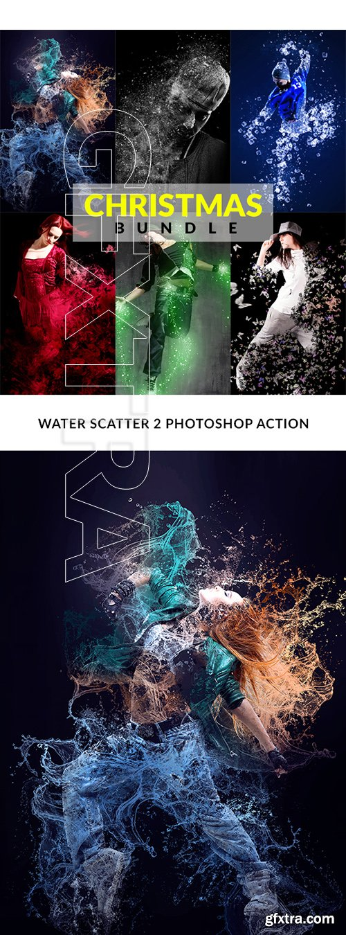 GraphicRiver - Christmas Photoshop Action Bundle 22813011