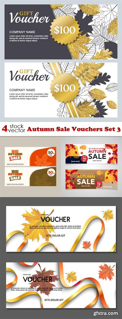 Vectors - Autumn Sale Vouchers Set 3