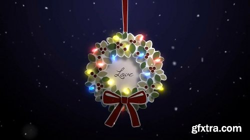 Videohive Merry Christmas Wreath 19105685