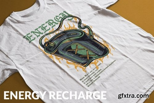 Energy Recharge T-Shirt Design Template