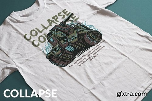 Collapse T-Shirt Design Template