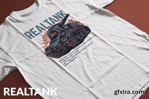 Realtank T-Shirt Design Template