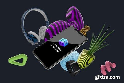 iPhone X App Mobile Mockup - MK