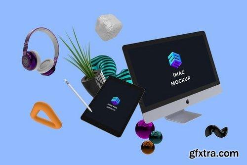 iMac iPad Pro Mockup - MK