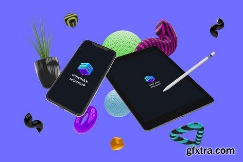 Iphone X Ipad Pro Mockup - MK