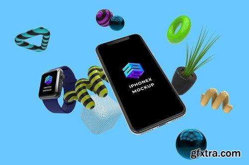 IPhone X Iwatch Mockup - MK