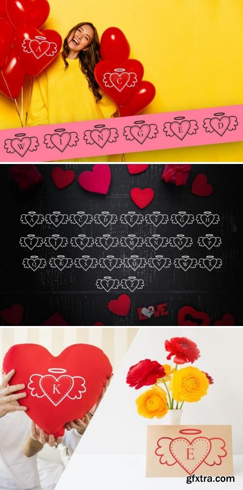 Winged Heart Font