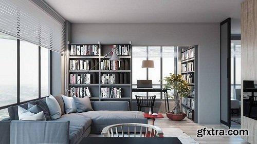Modern Living Room 28 Interior Scene