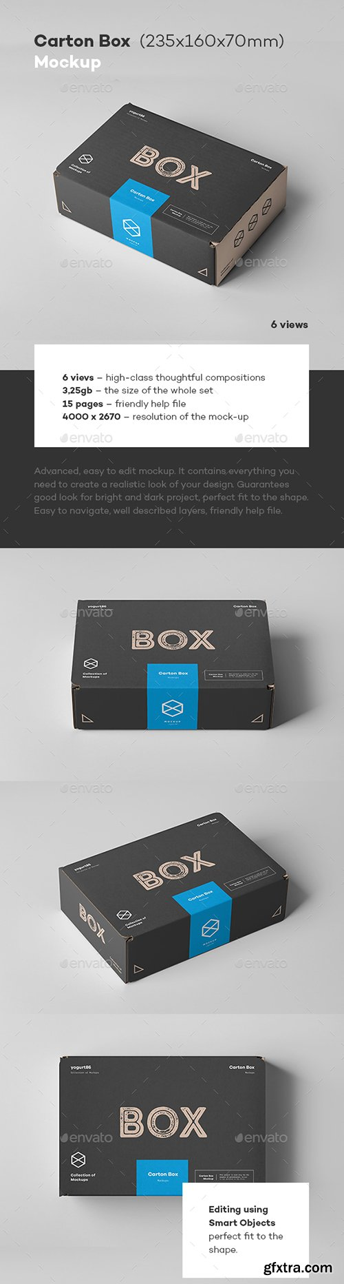 Graphicriver - Carton Box Mock-up 235x160x70 22851017