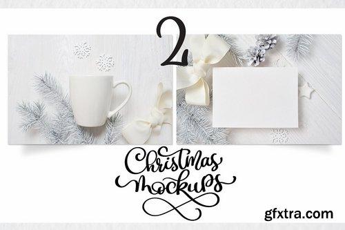 CM - Christmas mug and letter mock ups 2139909