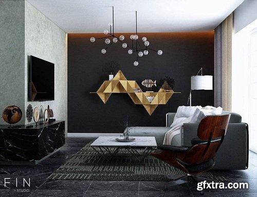 Modern Living Room 29 Interior Scene