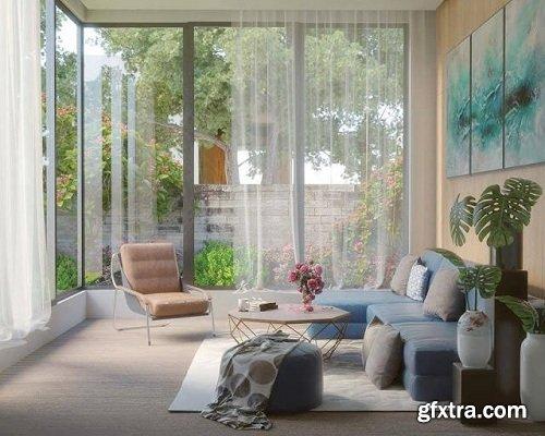 Modern Living Room 30 Interior Scene