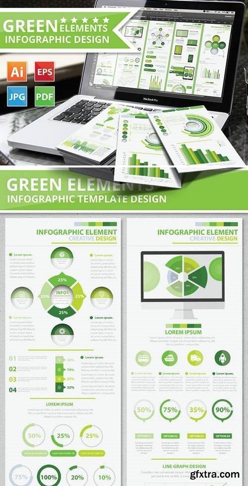Green Infographic Elements Design