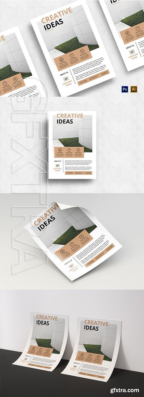 CreativeMarket - Minimalist Business Flyer-v02 3128663