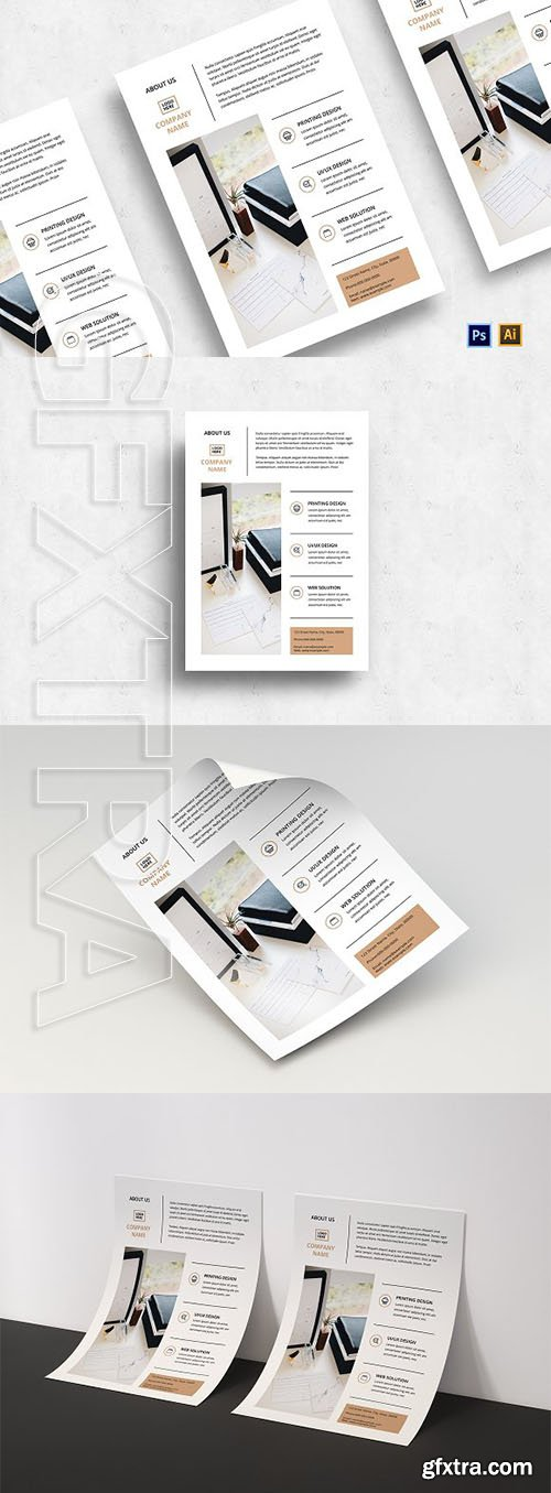 CreativeMarket - Minimalist Business Flyer-v03 3128676