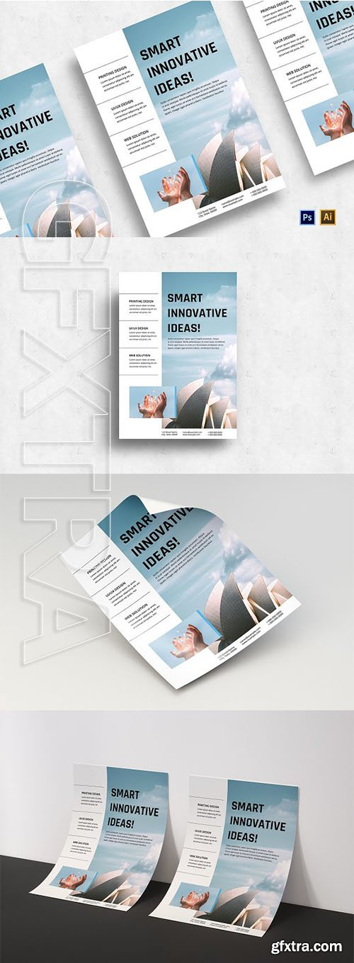 CreativeMarket - Minimalist Business Flyer-v04 3129438