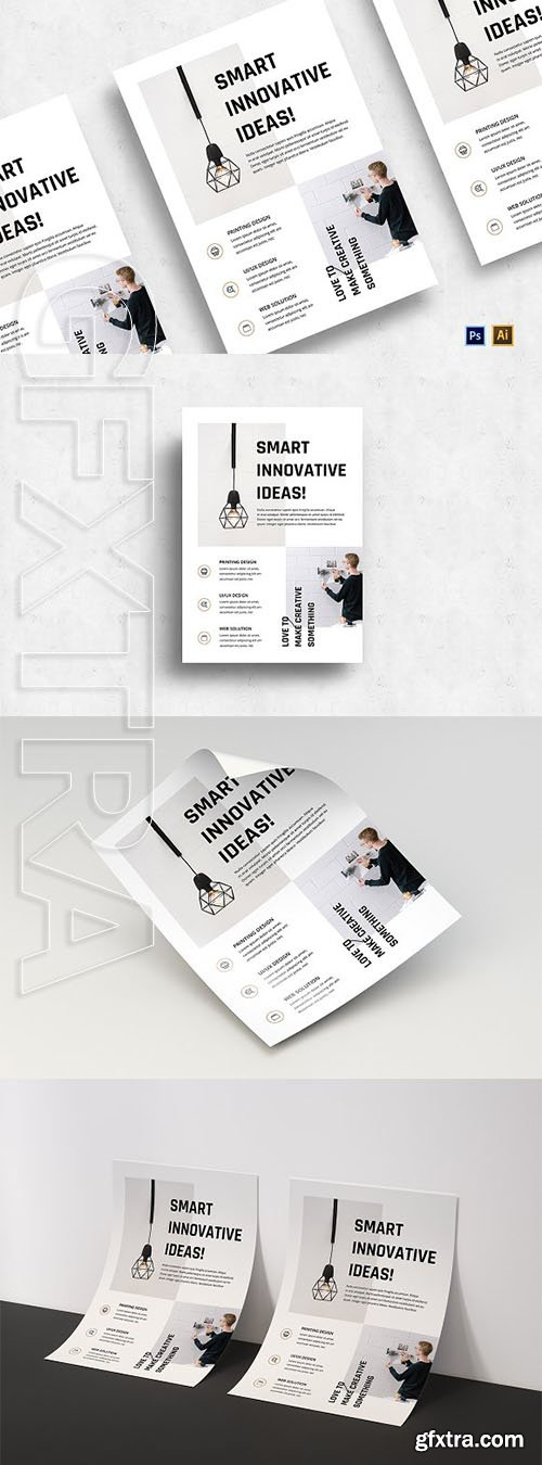 CreativeMarket - Minimalist Business Flyer-v05 3129508
