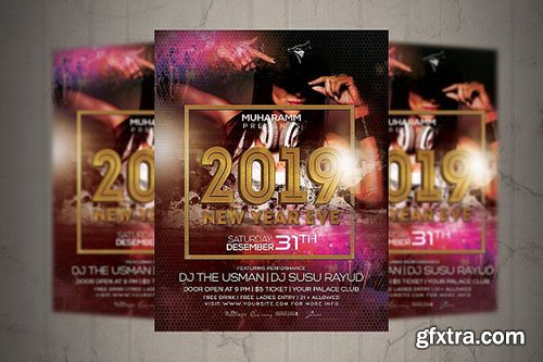 CreativeMarket - New Year Eve Flyer Poster 3163751