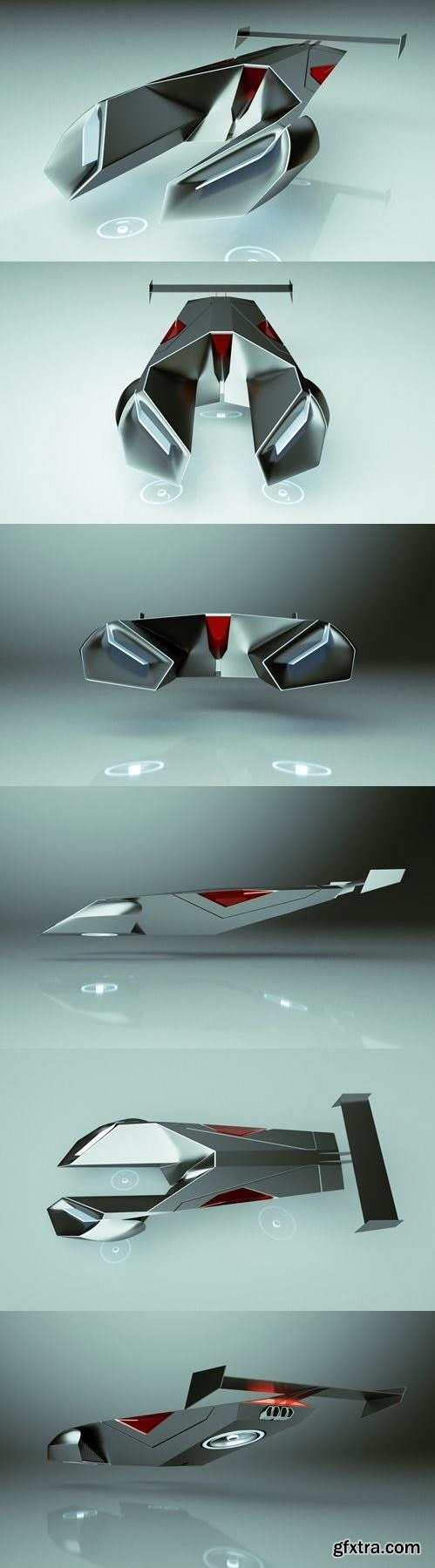 T-Hover Car 05 Scorpion – Cheap & Cool series - 3D Model