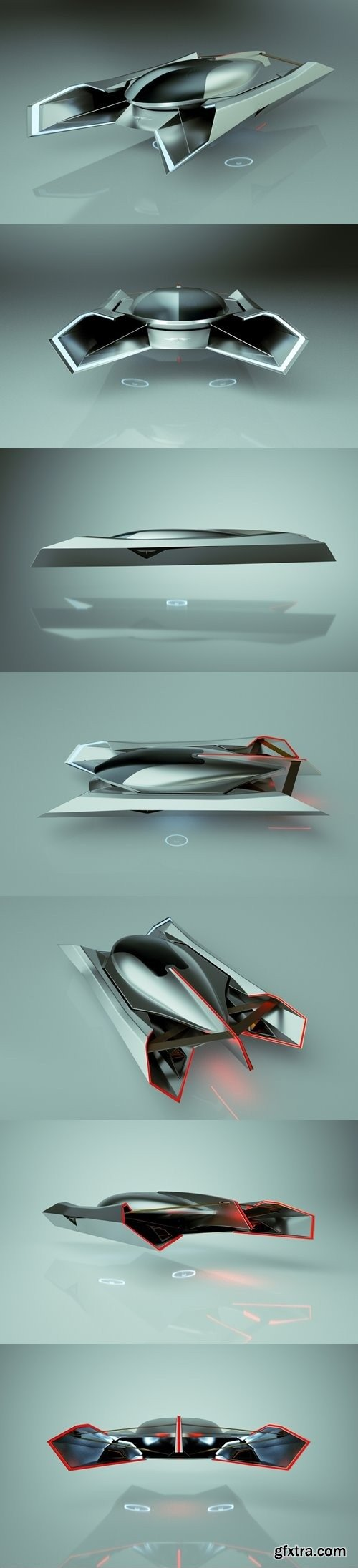 T-Hover Car 06 Spider – Cheap & Cool series 3D Model