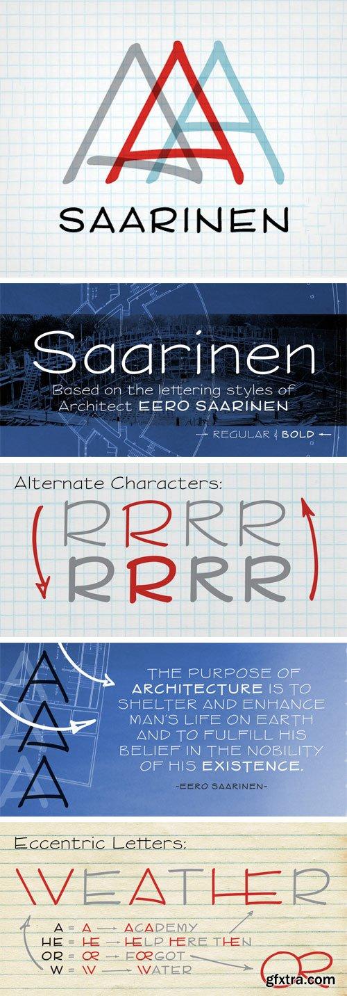 P22 Saarinen Font Family